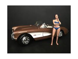December Bikini Calendar Girl Figurine for 1/18 Scale Models by American... - $17.14