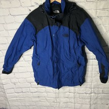 The North Face HyVent Hooded Rain/Wind Repellent Jacket Mens Size Small Blue - $51.41