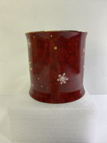 Primary image for Starbucks Christmas Mug Rosanna Birds Swallows Red Gold Coffee Cup Holiday 2010