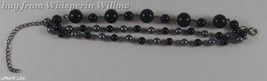 Triple Strand Glass Bead Fashion Bracelet - $7.95