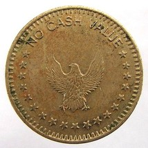 OLD Undated EAGLE Stars No Cash Value Brass TOKEN - $4.99
