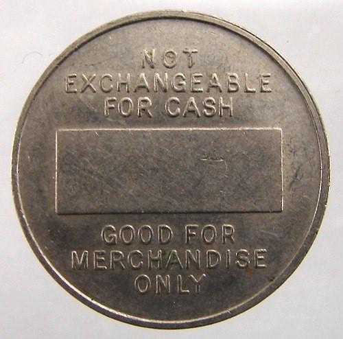 OLD Undated Playback Machine Credit No Cash Merchandise Value Nickel TOKEN