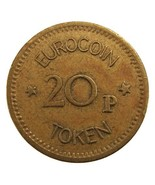 Old Undated British EUROCOIN LONDON 20p Brass TOKEN - $4.99