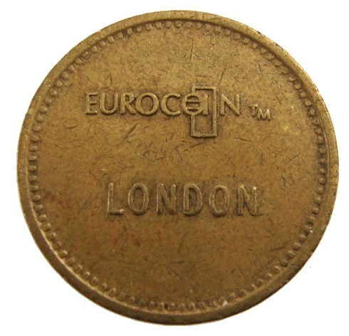 Old Undated British EUROCOIN LONDON 20p Brass TOKEN