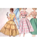 2 Vtg 50s Rockabilly Swing Dress Sewing Patterns sz16 UCFF - $12.00