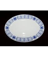 Homer Laughlin Blue Design Resturant Ware Platter  - $12.99