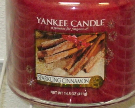 Yankee Candle New Sparking Cinnamon Medium Jar Candle 14.5 z