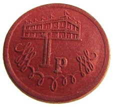 VINTAGE BRITISH / UK 1P TOKEN- J. T. PARRISH NEWCASTLE ON TYNE - $4.99