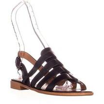 Coach Skyler Flat Gladiator Sandals, Black, 7 US - $95.99
