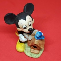 Vintage Walt Disney Productions MICKEY MOUSE BIRDHOUSE Ceramic Figurine  - $13.76