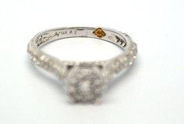 14k White Gold EGL Certified 1.14 ctw Diamond Engagement Ring AVD9352027 image 3