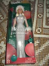 Barbie doll Christmas Holiday Excitement Blonde 2001 New never opened w/... - $12.46