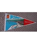 VINTAGE MESSINA SOUVENIR PENNANT FLAG - $4.99