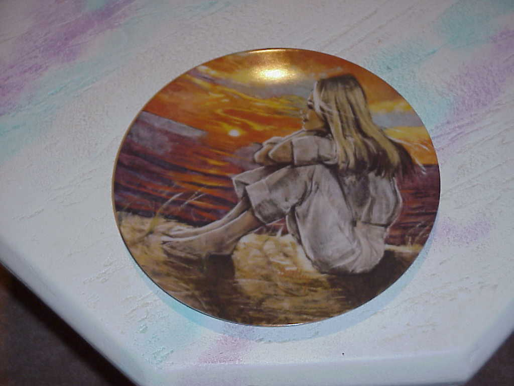 The Dreamer   Collector Plate  by Robert Bentley 1980