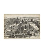 Trademark Fine Art Bird's Eye View of London - Westminster by Unknown, 3... - $101.34