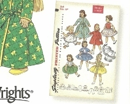 American Girl 18 in Doll Clothes Simplicity 4347 Pattern 1956 Archives