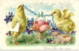 Love To You At Easter Time Tucks 1907 Vintage Post Card - $5.00