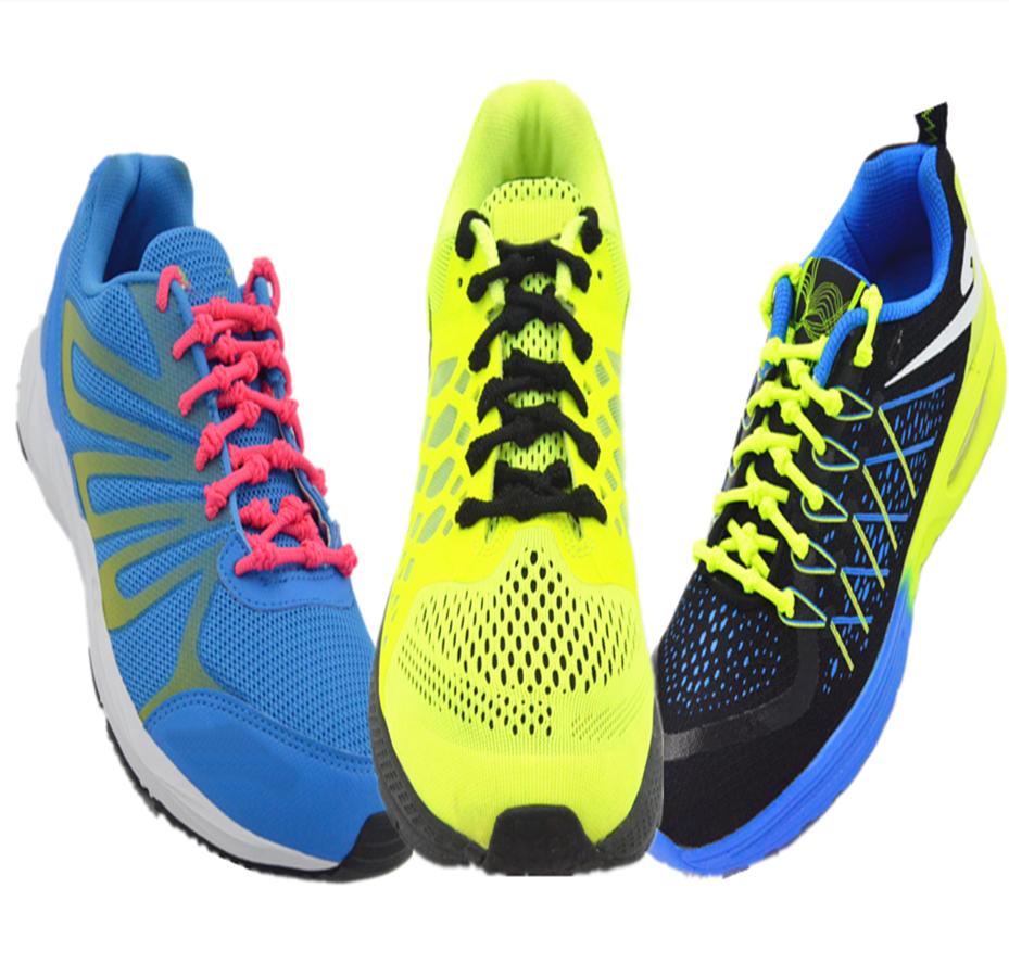 Qualität Elastic Knot Shoelaces No Tie Easy Stretch Fit Triathlon Sport Laces UK image 2