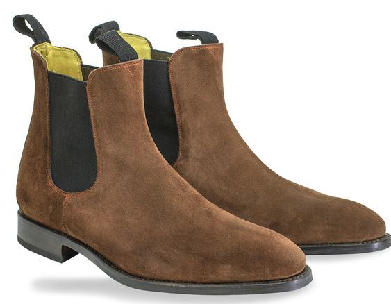 Handmade Men's Brown Suede Chelsea Boots