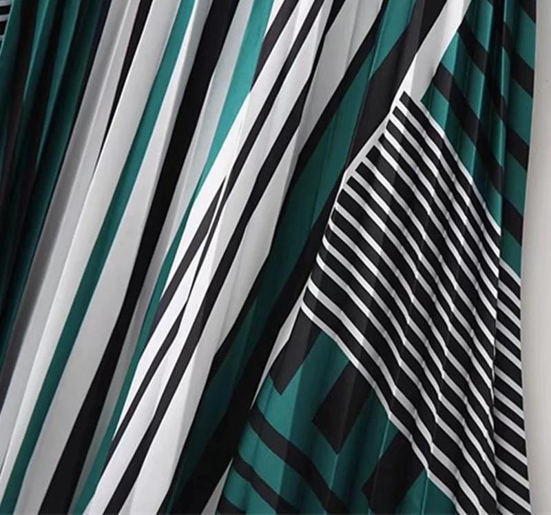 Pleated Skirt Zebra Pattern Spring Summer Skirt 2021 New