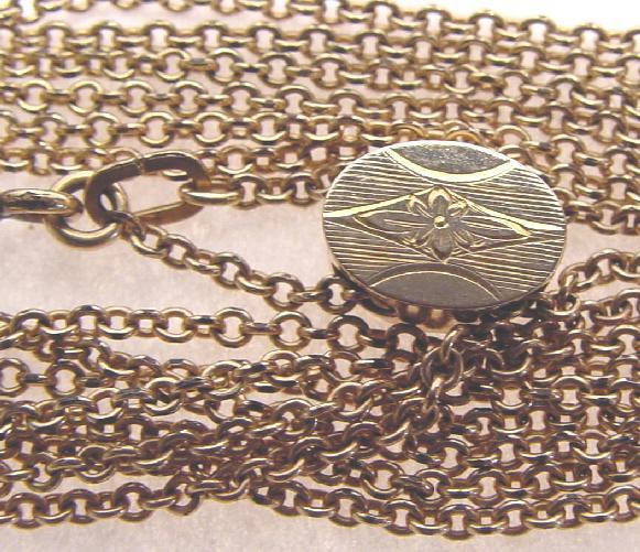 ANTIQUE WATCH/MUFF CHAIN WITH SLIDE