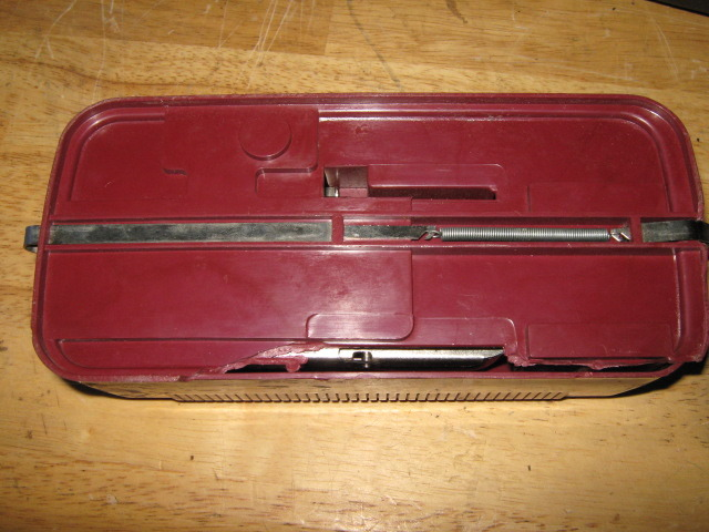 Kenmore Vintage Buttonholer Attachment In Case Used Works