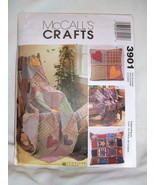 McCall's Crafts Pattern 3901 - Rag Quilt Large & Small Square Rag Pillow... - $3.95