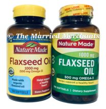 (2) Nature Made 1000 mg Organic Flaxseed Oil 100 softgels each 7/2022 FR... - $22.88