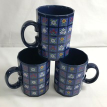 Otagiri Set of 3 Spring Flower Coffee Mugs Tea Cups Dodecagon 12 Sided S... - $29.68