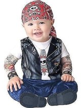 Incharacter Born To Be Wild Biker Bambini Neonati Costume Halloween 16022 - €23,39 EUR