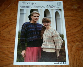 Peter Gregory Pattern ex 009 Warm with Style Dk Cardigan and - $4.00