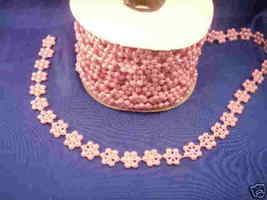Pearls on a string flower star shapes 10 yards lavender - $4.99