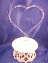 Wedding Cake top accessories plastic thin heart  & base - $3.25