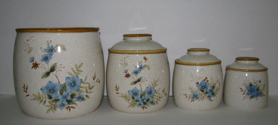 4 Piece Mikasa Garden Club Day Dreams Canister Set