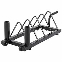 Yaheetech Horizontal Barbell Bumper Plate Rack Holder Olympic Bar Storag... - $67.38