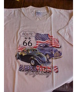 Men's Unisex NWOT XL Off White Route 66 Highway... - $5.49