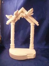 "White Wedding Gazebo arch with doves poly resin 7.5"" - $8.50"