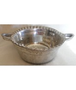 Silvertone metal fluted bowl - $5.99