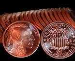 20 1 oz 2011 999 fine copper bullion indian head rounds  38288 zoom thumb155 crop
