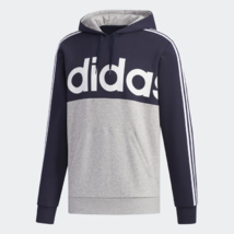 adidas Essential Colorblock Pullover Navy / Gray Training Hoodie Men's XL - $49.49