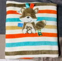 Taggies Multicolor Striped Baby Blanket Squirrel & Acorn - $44.55