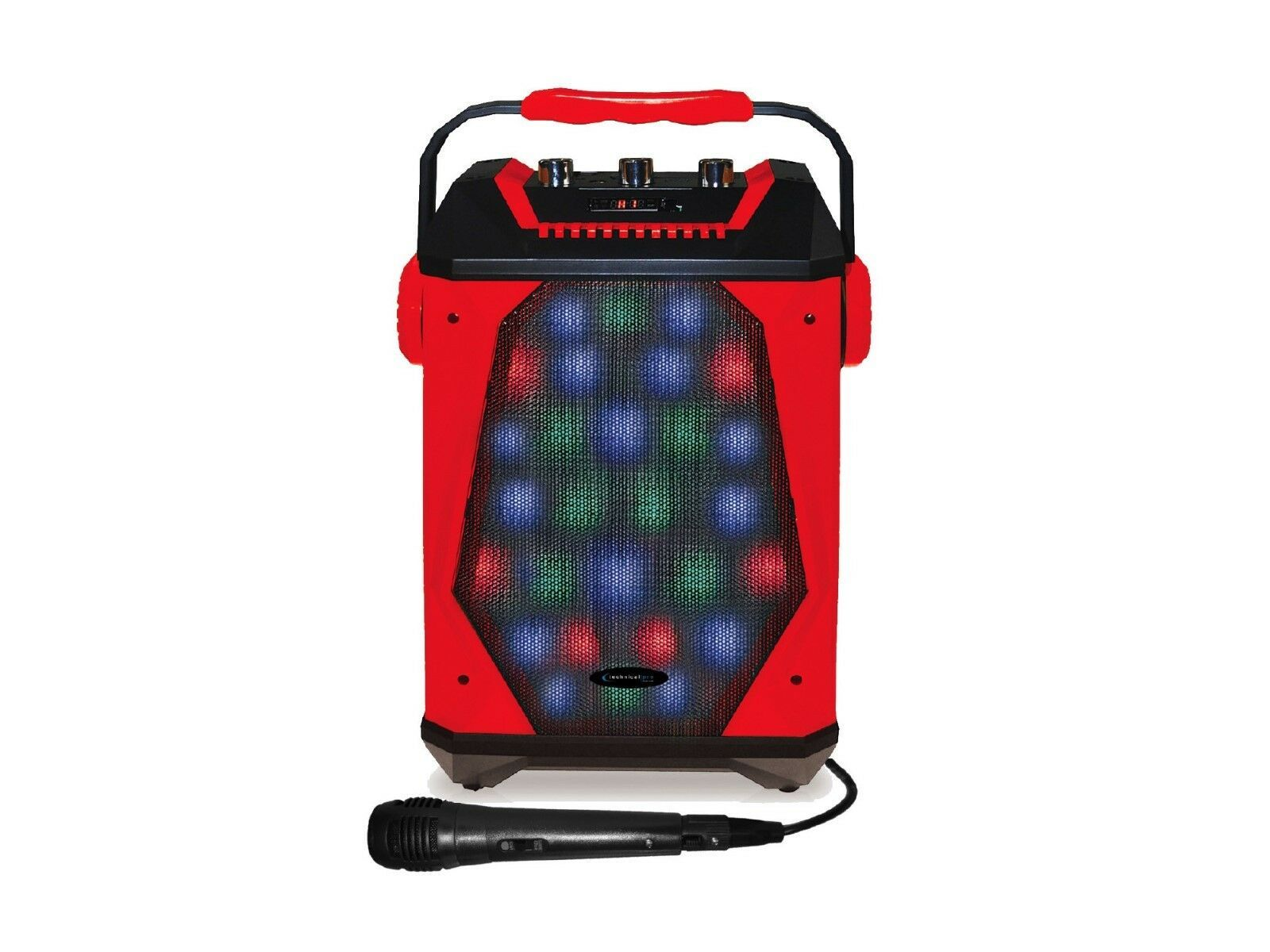 Technical Pro WASP460 Rechargeable Bluetooth LED Speaker with Wired Microphone