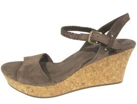 Ugg Australia D'Alessio Wedge Sandals sz 10 brown suede & cork NEW 1005104 - $40.00