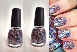 2 ~ MINI China Glaze Holiglaze YOUR PRESENT REQUIRED Multi Glitter Nail ... - $4.62