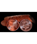 20 oz INDIAN HEAD DESIGN 1 ROLL COPPER COINS - FREE SHIP!!! - €28,84 EUR
