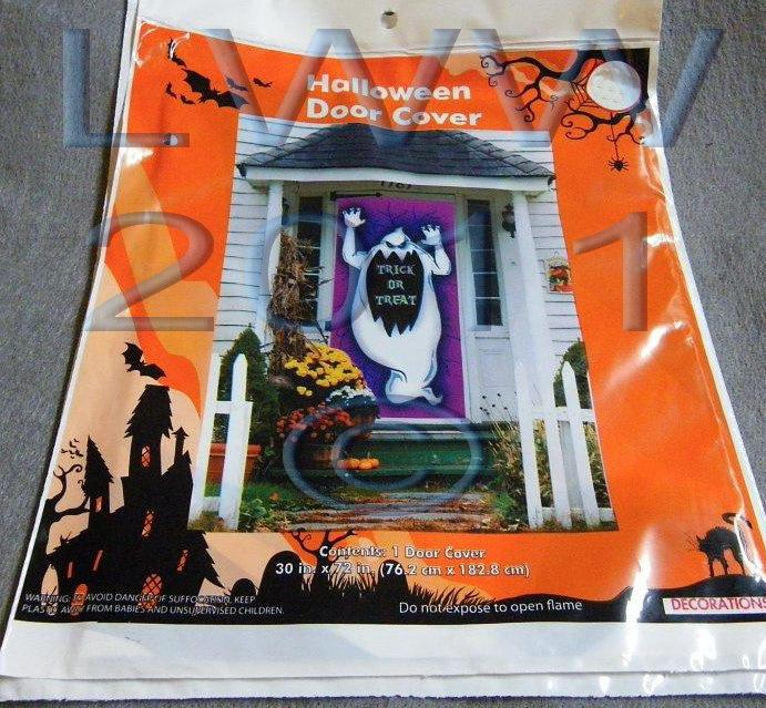 Halloween Ghost Door Cover and Creepy Creature window corner decorations