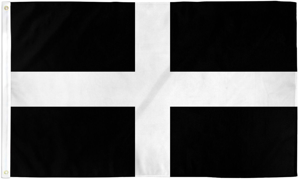 CORNWALL 3X5' FLAG NEW 3X5 FEET BIG FLAG SOUTH WEST ENGLAND TRURO CORNISH FLAG