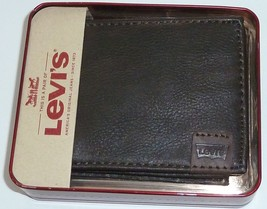 Levis Batwing Logo Bifold Coated leather Wallet - $15.99
