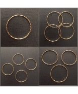 Sterling Silver 925(24K-gold plating) 29mm rings for making jewelry 1pcs - $2.60