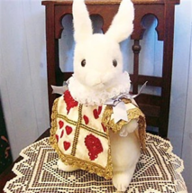 ❦Disney Alice in Wonderland Trump Rabbit Plush Doll Handmade FS NEW from... - $206.91